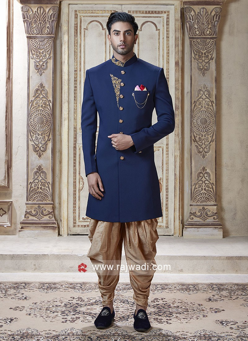 Attractive Blue Color Indo Western