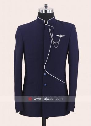 Attractive Blue Color Jodhpuri Suit