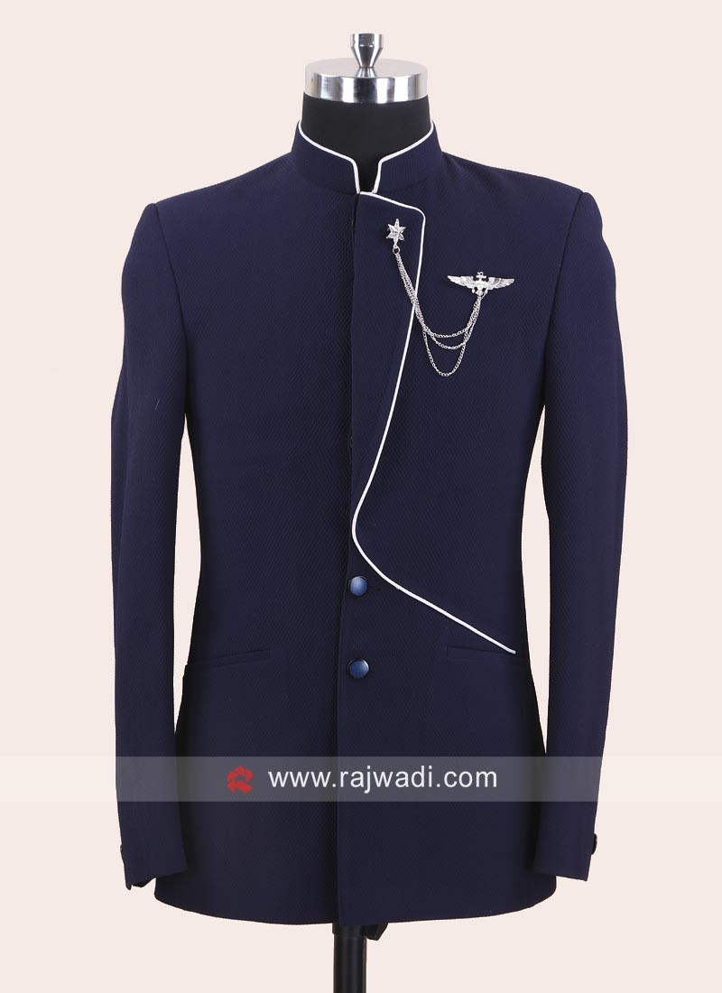 Attractive Blue Color Jodhpuri Suit