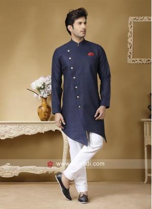 Attractive Blue color Pathani Set