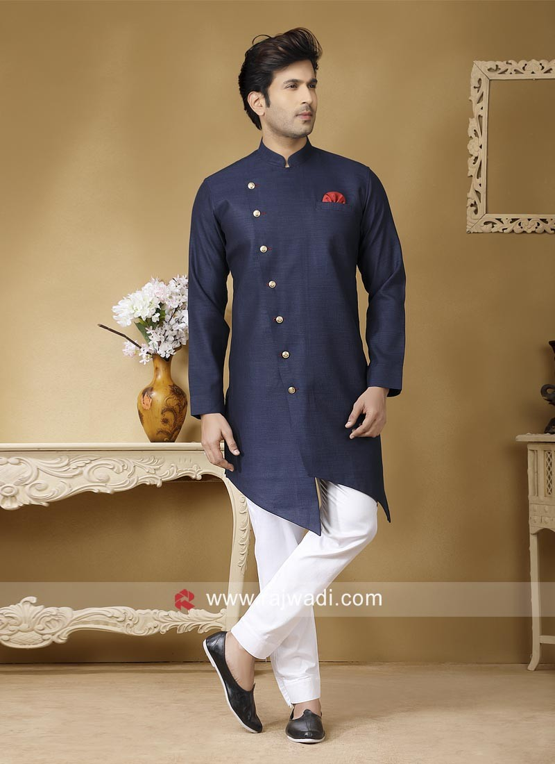 Attractive Blue color Pathani Set