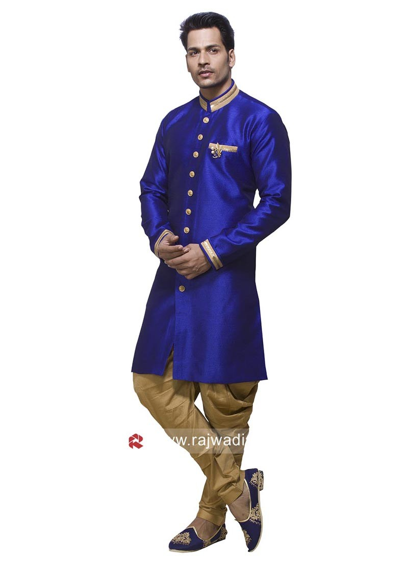 Attractive Blue Color Patiala Suit