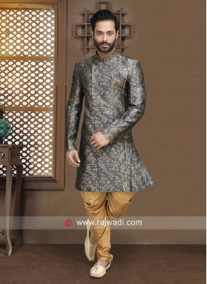 Attractive Blue Indo Western For Party