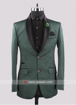 Attractive Bottle Green Color Suit