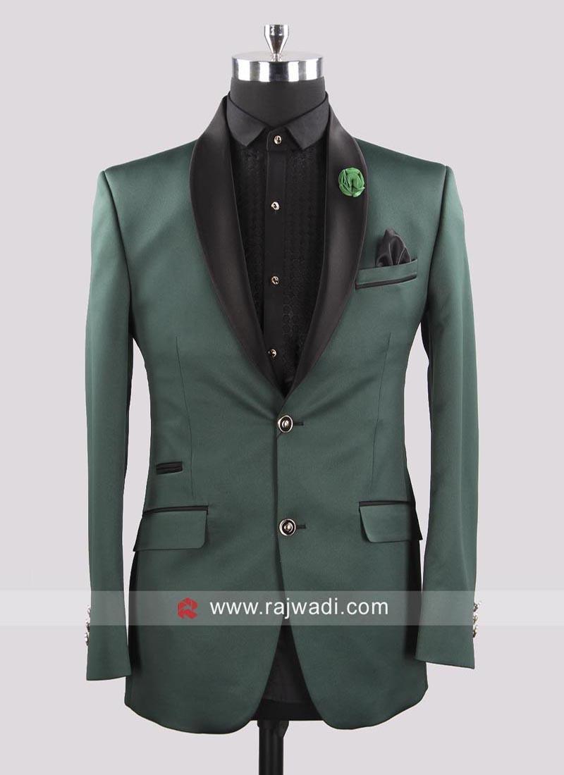 Attractive Bottle Green Color Suit