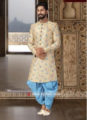 Attractive Brocade Silk Fabric Patiala Suit