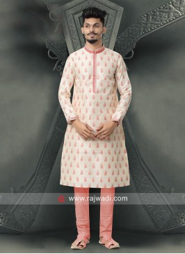 Attractive Cotton Silk Kurta Pajama