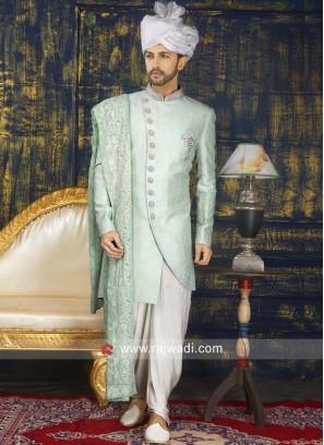 Attractive Brocade Silk Indo Western
