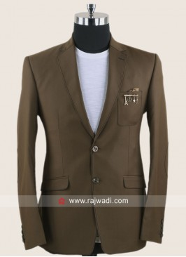 Attractive Brown Color Blazer For Wedding