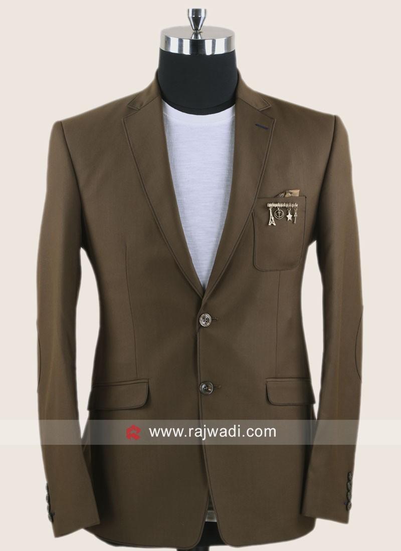 Attractive Brown Color Blazer For Wedding