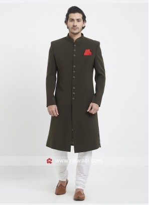 Attractive Brown Color Indo Western