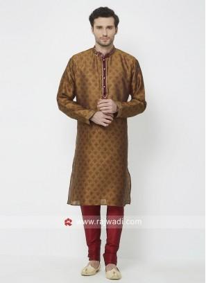Attractive Brown Color Kurta Pajama