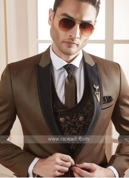 Attractive brown color suit