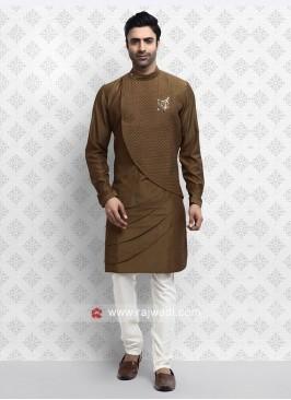 Attractive Brown Kurta Pajama