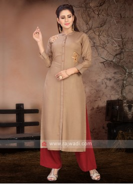 Attractive Brown & Maroon Kurta Set