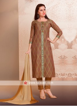 Attractive Brown Trouser Suit