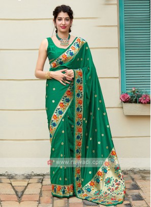 Amazing Green Classic Saree