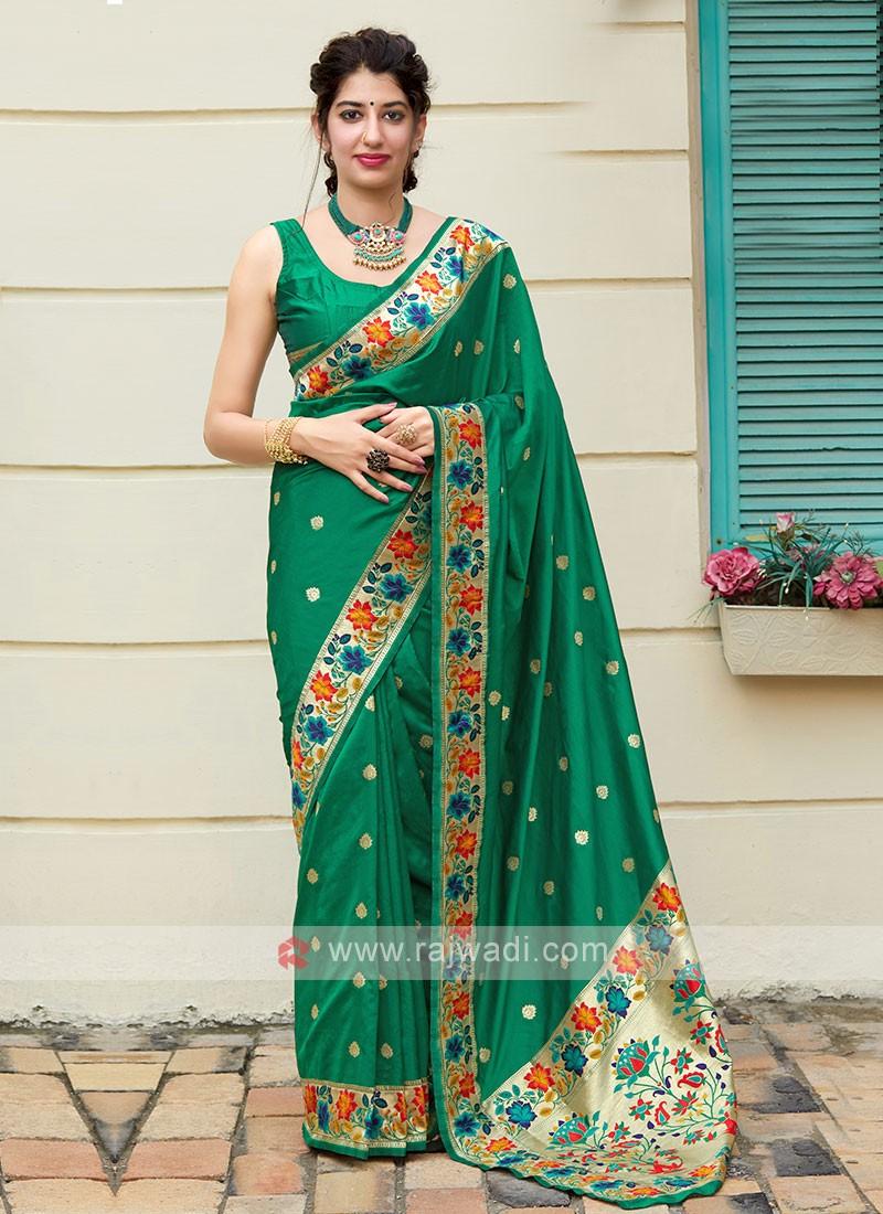Amazing Green Classic Saree