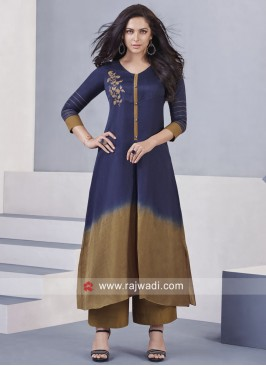 Cotton Silk Palazzo Suit