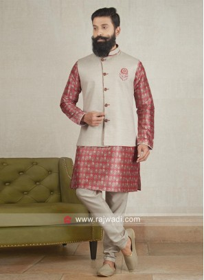 Attractive Cotton Silk fabric Nehru Jacket