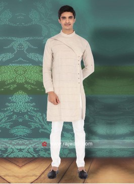 Attractive Cream Kurta Pajama