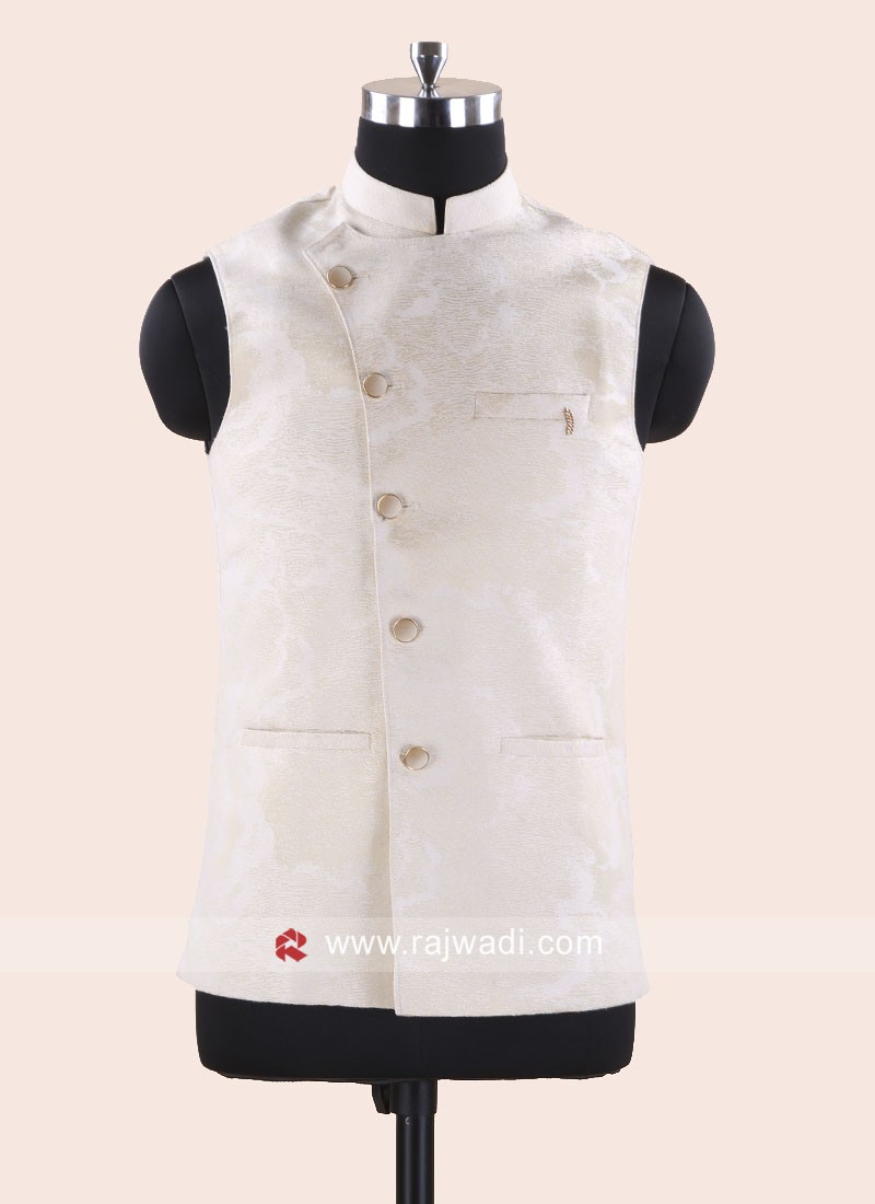 Attractive Cream Mens Koti