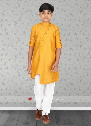 Attractive Golden Yellow Kurta pajama