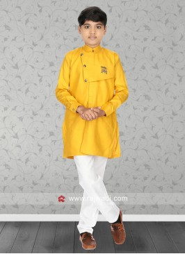 Attractive Golden Yellow Kurta Set