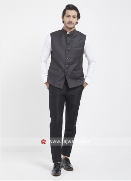 Attractive Dark Grey Mens Koti