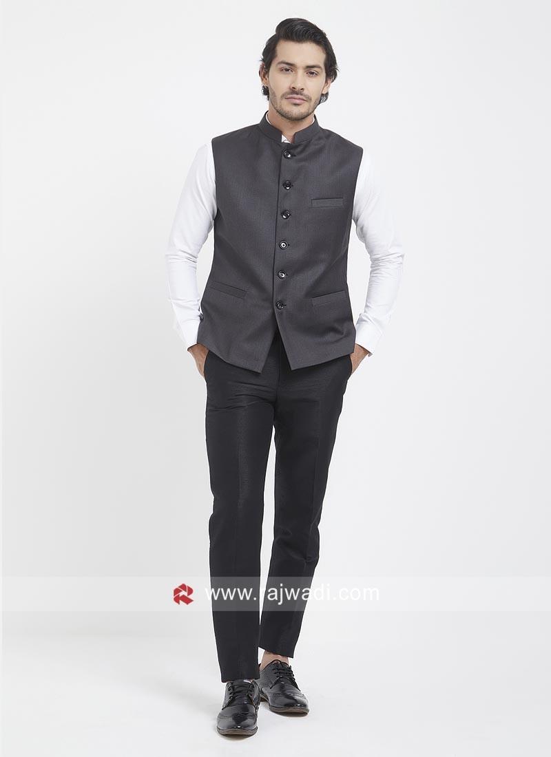 Attractive Dark Grey Mens Koti