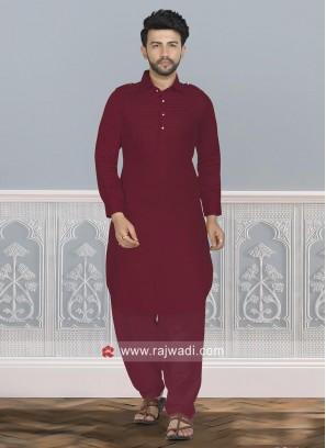 Attractive Maroon Pathani Set