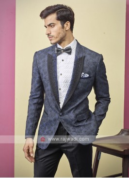 attractive deisgner blue color suit