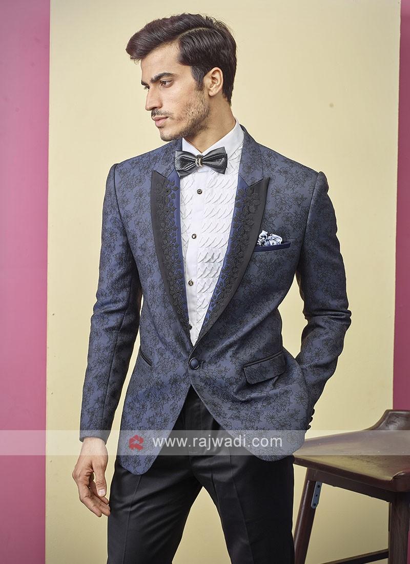 attractive deisgner blue color suit