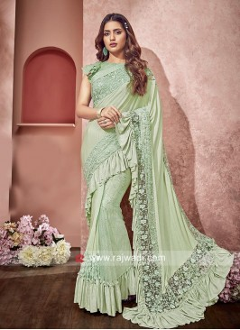 Net and Lycra Party wear Saree