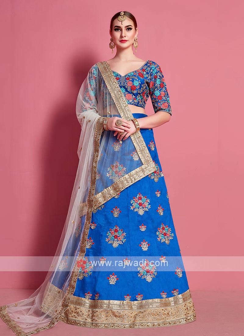 Attractive Firozi Color Lehenga Choli