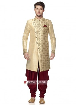 Attractive Golden Color Patiala Suit