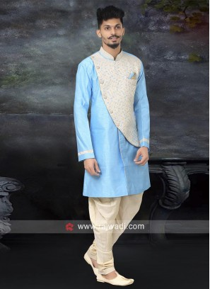 Attractive Dark Turquoise Color Indo Western