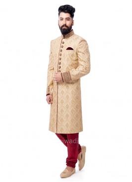 Attractive Golden Color Sherwani