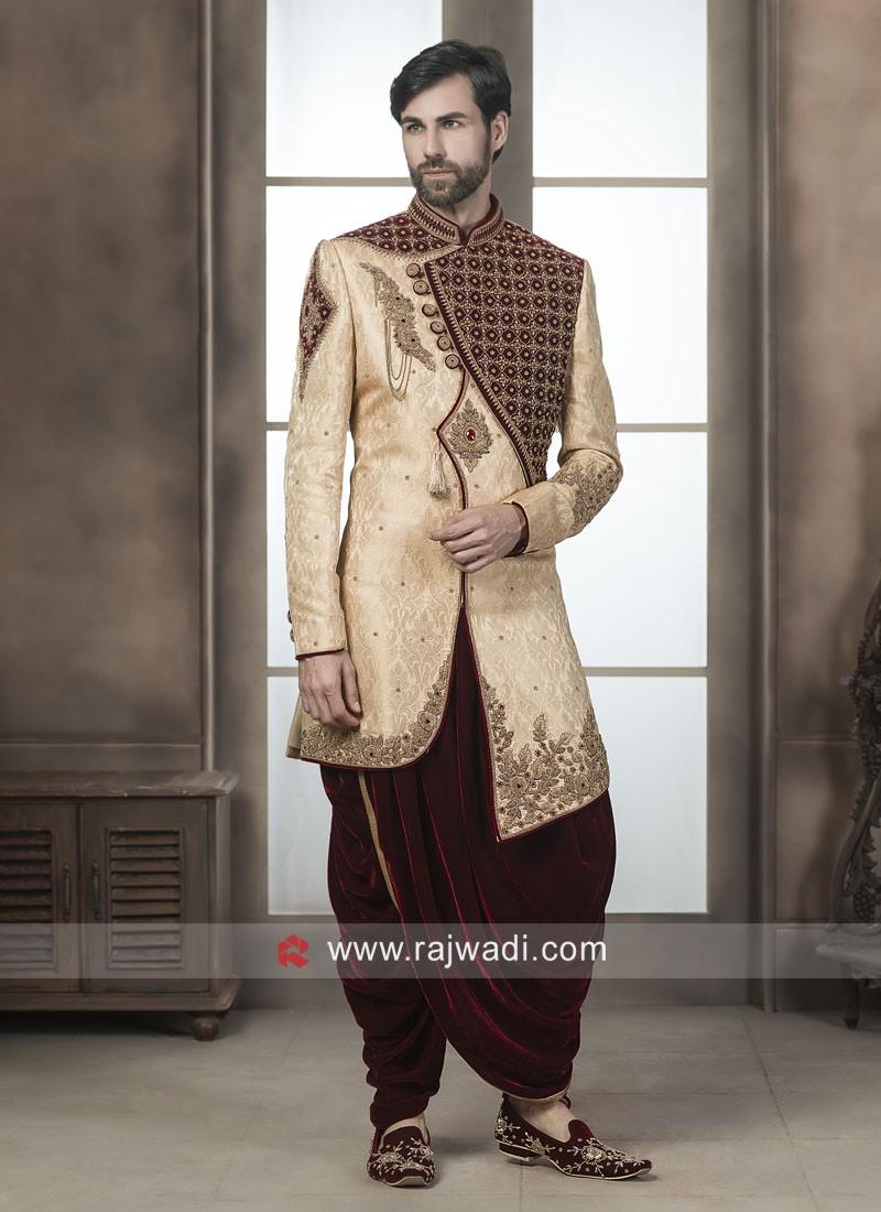 Attractive Golden Indo Western