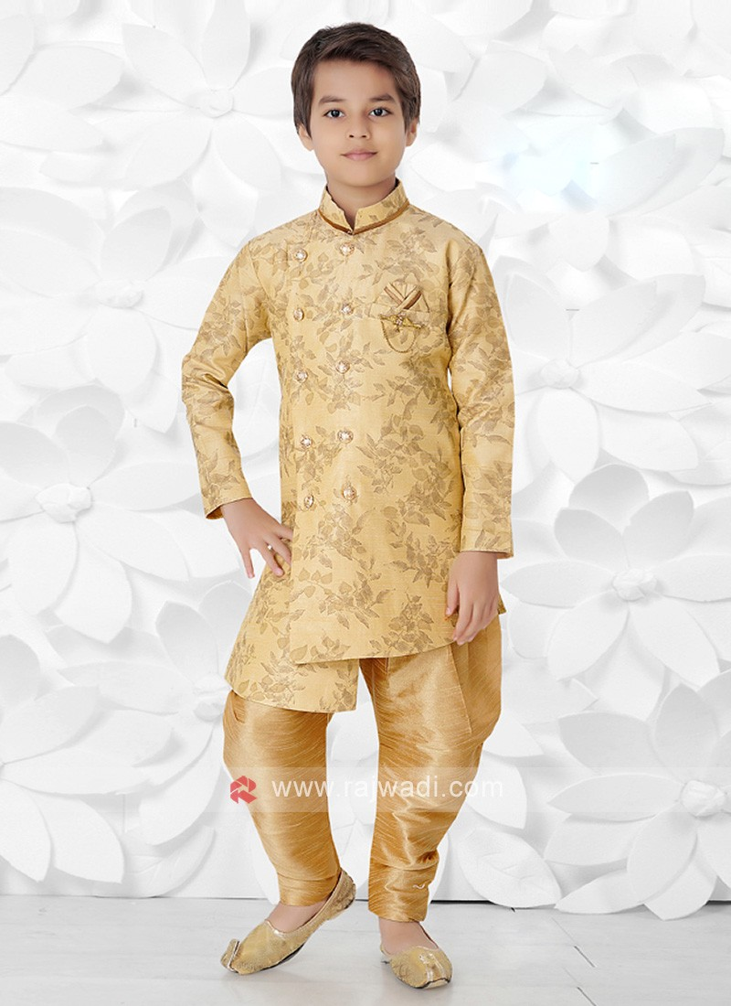 Attractive Golden Indo Western For Boys