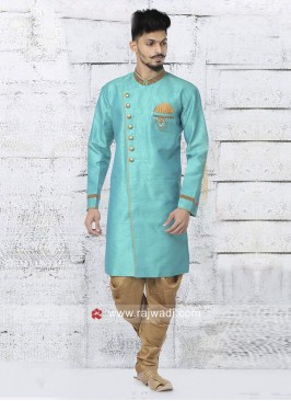 Attractive Medium Turquoise Color Indo Western