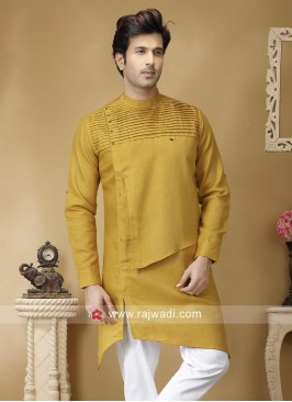 Attractive Golden Yellow Color Kurta