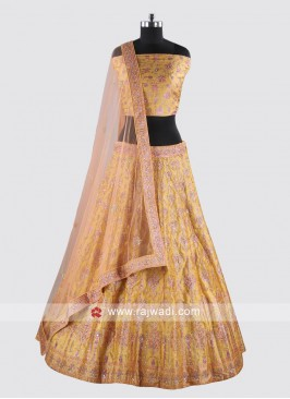 Attractive Golden Yellow Lehenga Set