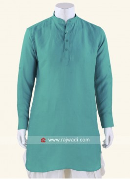 Attractive Medium Turquoise color Kurta
