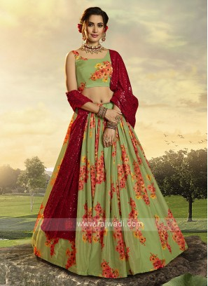 Attractive Green Lehenga Choli