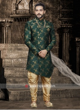 Attractive Green Patiala Set