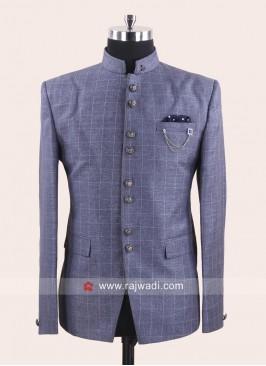 Attractive Grey Color Jodhpuri Set