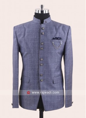 Attractive Grey Color Jodhpuri Set