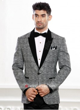 Attractive Grey Color Suit For Party