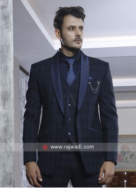 Attractive Blue Color Suit For Party